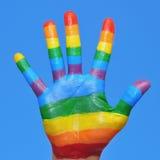 Homoseksualna ręka Zdjęcia Stock