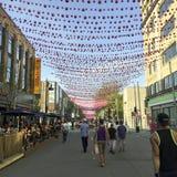 Homoseksualna wioska w Montreal podczas duma miesiąca Obraz Stock