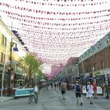 Homoseksualna wioska w Montreal podczas duma miesiąca Zdjęcia Stock