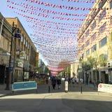 Homoseksualna wioska w Montreal podczas duma miesiąca Obrazy Stock