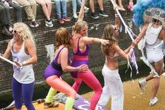 Homoseksualnej dumy Kanałowa parada Amsterdam 2014 Zdjęcie Royalty Free