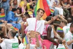 Homoseksualnej dumy Kanałowa parada Amsterdam 2014 Fotografia Royalty Free