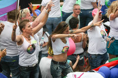 Homoseksualnej dumy Kanałowa parada Amsterdam 2014 Obraz Stock