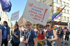 Homoseksualnej dumy parada 2013 w Sztokholm Zdjęcie Stock