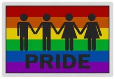 homoseksualnej fotografii dumy realistyczny znak Zdjęcia Stock
