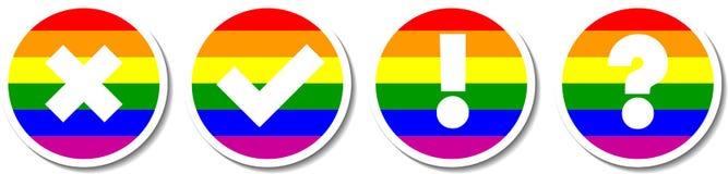 Homoseksualnej parady czeka oceny ustawiać Fotografia Royalty Free