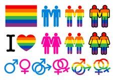 Homoseksualni pictogrammes Fotografia Royalty Free