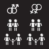 Homoseksualni rodzinni symbole ustawiający Obrazy Royalty Free