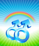 Homoseksualni związku rodzaju symbole Obraz Stock