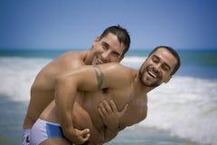 Homoseksueel in liefde op vakantie Royalty-vrije Stock Foto's
