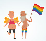 Homosexual gay people couple vector Stock Images