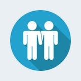 Homosexual partner couple Royalty Free Stock Photos