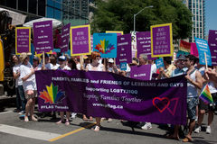 Homosexual Support at Toronto Rainbow Pride royalty free stock images