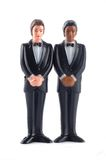 Homosexual wedding dolls isolated Royalty Free Stock Images