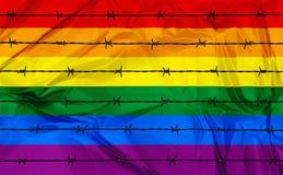Homosexualitet och Homophobia royaltyfri illustrationer