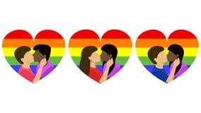 Homosexualitetbisexualityheterosexualitet royaltyfri illustrationer