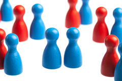 Homosexuality concept, pawn figures Stock Photos