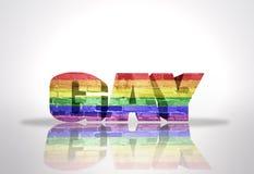 Homosexuel de Word avec le drapeau d'arc-en-ciel Photos libres de droits