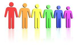Homosexuel-homme-indicateur illustration de vecteur