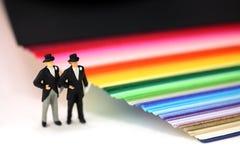 Homosexuel ou concept de mariage homosexuel. Image libre de droits