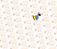 Homosexuel Pride Rainbow Colors de moutons noirs Photo libre de droits