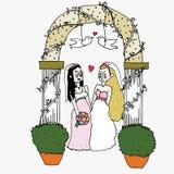 Homosexuell bröllopceremoni Fotografering för Bildbyråer