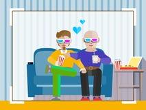 Homosexuell film för parklocka 3d Royaltyfri Bild