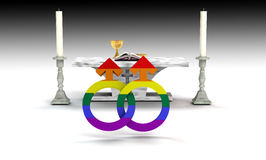 Homosexuelle Ehe Stockfotos