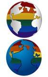 Homosexuelle Erde Stockfotos