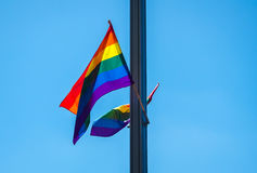 Homosexuelle Flagge Lizenzfreie Stockfotos