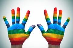 Homosexuelle Hände Stockfotografie