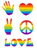 Homosexuelle Ikone s vektor abbildung