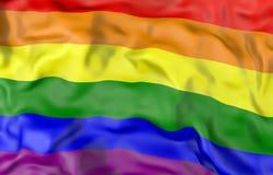 Homosexuelle Illustration der Flagge 3D Lizenzfreie Stockfotos