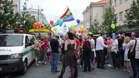 Homosexuelle lesbische Paradeleute stock video footage