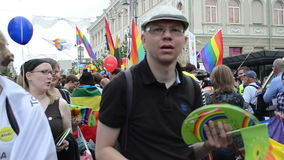 Homosexuelle lesbische Paradeleute stock video