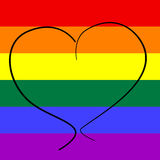 Homosexuelle Liebe Stockbild
