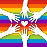 Homosexuelle Liebe lizenzfreie abbildung