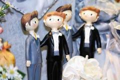 Homosexuelle Liebe und Heirat Stockbild