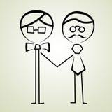 Homosexuelle Männer, die Paare wedding sind Stockbild