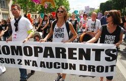 Homosexuelle Muttergesellschaft an Paris-homosexuellem Stolz 2009 Stockbilder