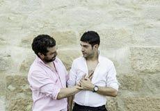 Homosexuelle Paarliebe Stockfoto