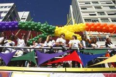 Homosexuelle Parade in Sao-Paulo Stockbilder