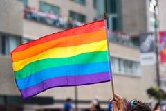 Homosexuelle Regenbogenflagge stockfotografie