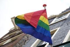 Homosexuelle Regenbogenmarkierungsfahne Lizenzfreie Stockfotos