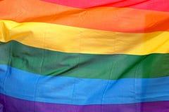 Homosexuelle Stolz-Markierungsfahne Stockfoto