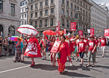 Homosexuelle Stolz-Parade London 2010 Stockfoto