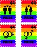 Homosexuelle Stolz-Stempel Stockfotos