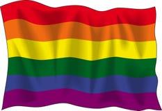 Homosexuelle Stolzmarkierungsfahne Stockbild