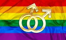 Homosexuelle Symbole Stockfotos