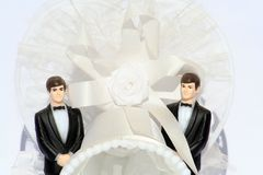 Homosexueller Hochzeitsabschluß oben Lizenzfreie Stockfotos